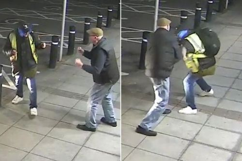 Pensioner, 77, throws punches and shouts 'come on then' at cashpoint mugger