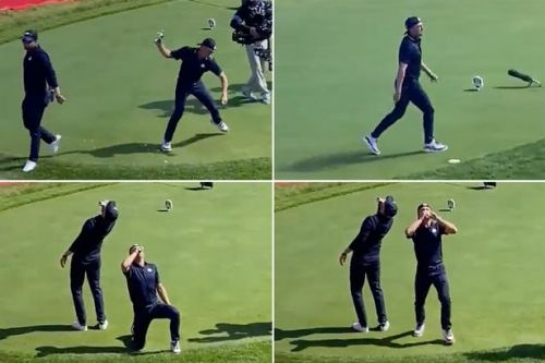 """Ryder Cup stars Justin Thomas and Daniel Berger slammed """"classless"""" after downing beers"""
