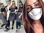 Designer reveals she's made £7,000 A MONTH in lockdown by printing companies' logos on face masks