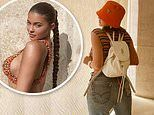 Kylie Jenner rocks retro 90s look on vacation and sends prayers for everyone's 'health and safety'