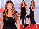 BRITs 2020: Emily Atack keeps it classic in a slinky LBD