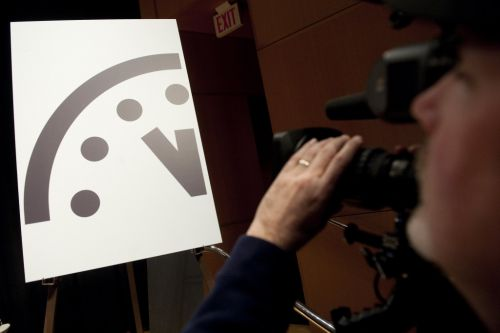 What is the Doomsday Clock and how close is it to midnight?