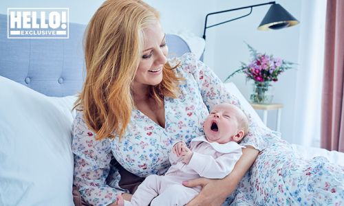 Sarah-Jane Mee introduces baby daughter and reveals her sweet name
