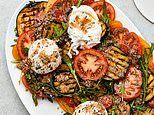 Gordon's fast food: Warm aubergine tomato & burrata