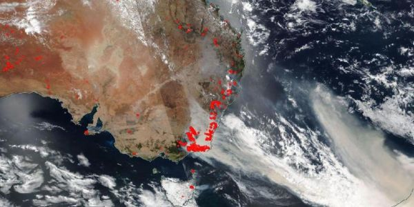 Australia's bushfires are producing so much smoke that NASA expects it to travel all the way round the world and return to Australia