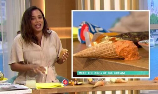 Rochelle Humes throws This Morning into chaos with ice cream blunder: 'All down me!'