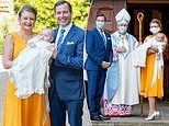 Prince Charles of Luxembourg looks adorable at his christening