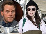 Ellen Page arrives in LA after Chris Pratt responds to her claim his church is 'anti-LGBTQ'
