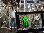 Tube passengers are automatically heat-scanned for knives, guns and bombs