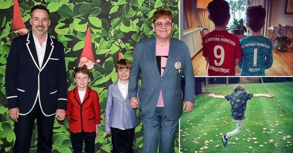 Elton John is 'loving every second' of coronavirus lockdown as he spends time with his kids