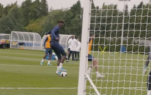 : Mason Mount and Tammy Abraham show their hot form with superb training goals