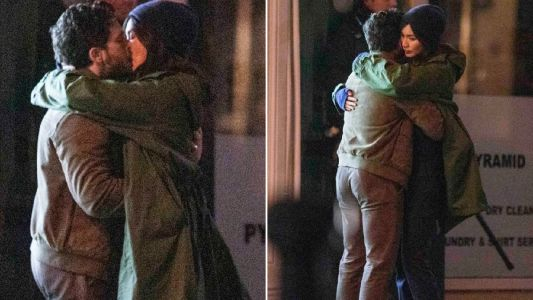 Game of Thrones' Kit Harington enjoys passionate kiss with Gemma Chan on Marvel's Eternals set