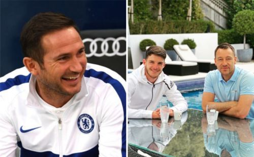 Frank Lampard 'likes' John Terry's Instagram post 'tapping up' Declan Rice for Chelsea