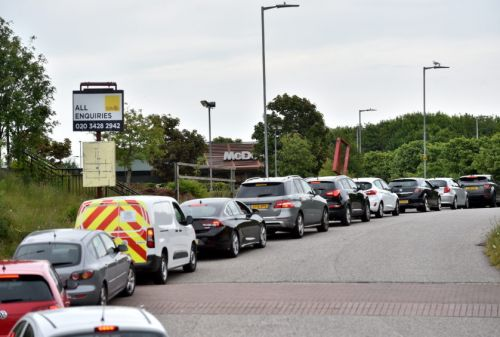 Tailbacks as hungry customers queue at McDonald's drive-thrus