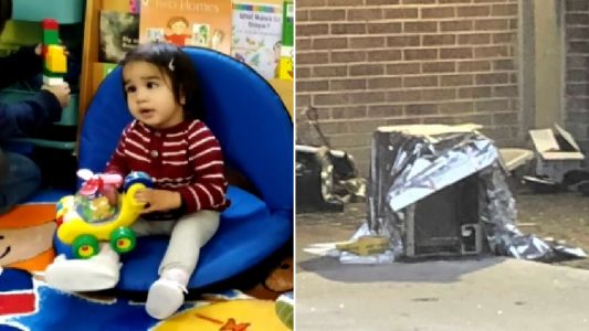 Toddler killed after air conditioner falls from 8th floor window and lands on top of her