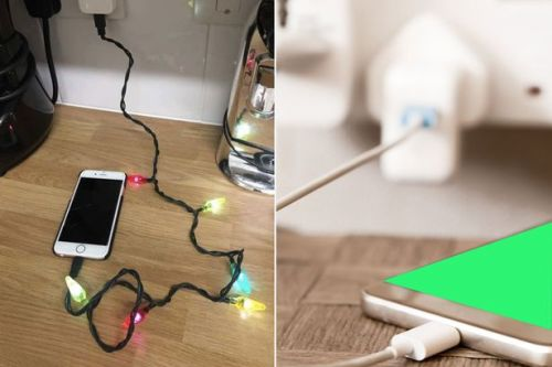 Poundland shoppers go crazy for iPhone chargers with Christmas lights