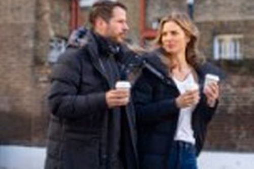 Jamie Redknapp's love Frida models £700 coat from his eco range on cosy outing