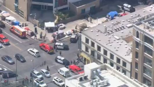 Los Angeles shooting - 'Multiple victims' as female shooter opens fire in the city centre'