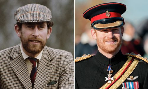 Prince Charles and Prince Harry look so alike with a beard