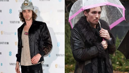 The Umbrella Academy's Robert Sheehan wears gas mask to campaign for Extinction Rebellion at swanky BAFTA bash
