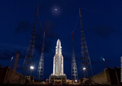 Ariane 5 rocket returning to hangar for sensor swap