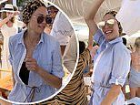 Boris Becker's ex Lilly parties with friends at Sardinia beach club after outburst over son Amadeus