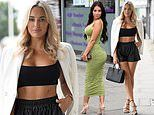 TOWIE's Amber Turner and Yazmin Oukhellou look stylish for socially-distanced filming