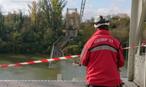 Girl, 15, dies after suspension bridge collapses in Toulouse