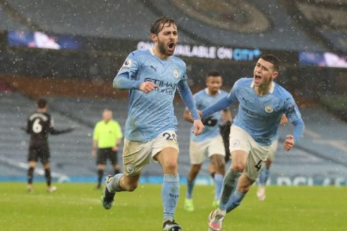 Bernardo stunner helps Man City see off Aston Villa to go top of Premier League