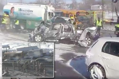 Up to 60 people injured after multi-car pileup on motorway in Canada