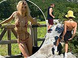 Emily Ratajkowski stuns in bikini during holiday getaway to the countryside with husband and pet dog