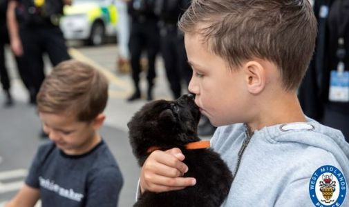Boy, 8, realises 'bucket list' wish of being police officer for a day