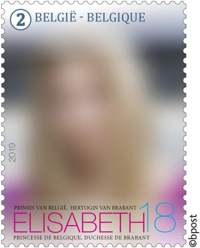 Princess Elisabeth of Belgium to star on stamp marking 18th birthday
