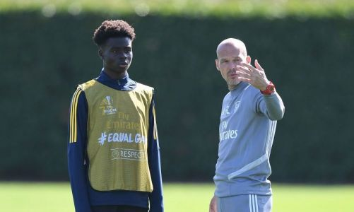 Unai Emery set to name strong Arsenal XI against Frankfurt with Bukayo Saka involved in training again