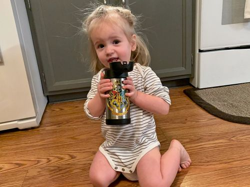My toddler loves to drink from this stainless steel water bottle - here's how its child-friendly design prevents leaks