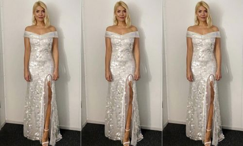 Holly Willoughby dazzles Dancing on Ice fans in a silver sequin gown