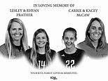 Ex-volleyball stars Carrie McCaw, Lesley Prather and daughters are killed in Missouri highway crash