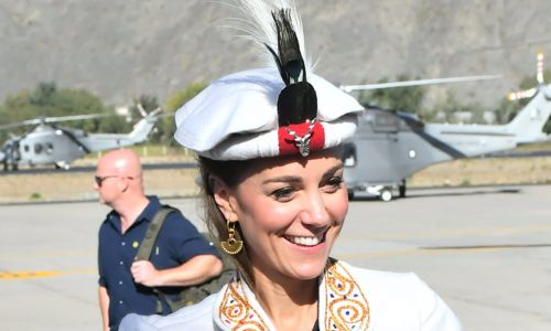 Kate Middleton follows in Princess Diana's footsteps wearing traditional Chitrali hat in Pakistan