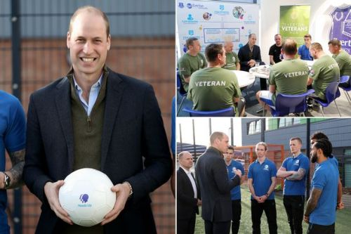 Prince William meets with Everton football players to discuss mental health
