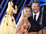 Gwen Stefani gives bridal vibes in white gown as she performs Nobody But You duet with Blake Shelton