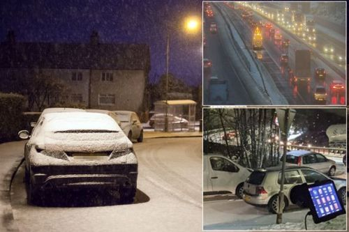UK weather: Snow and ice cause 'treacherous' conditions with crashes and cars stuck