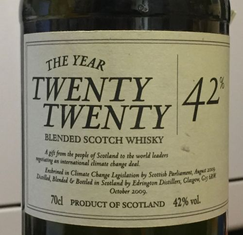 2020, whisky and climate change