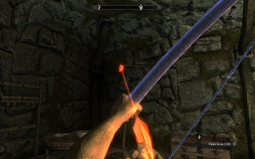 This Skyrim mod lets you become an arcane archer, firing spells from your bow