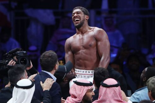 Wladimir Klitschko congratulates Anthony Joshua following victory over Andy Ruiz