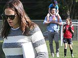 Jennifer Garner and Ben Affleck make co-parenting look easy during family day at the park