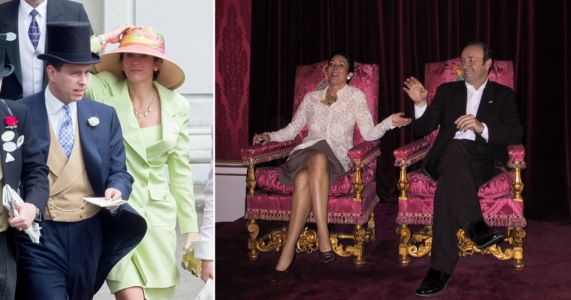 Ghislaine Maxwell posed for photo on Queen's throne with Kevin Spacey