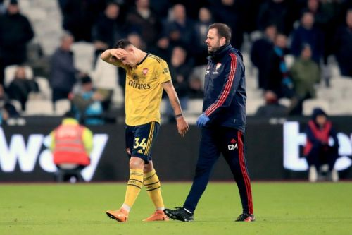 Grant Xhaka goes off with suspected concussion as Arsenal come from behind to beat West Ham