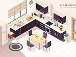 Brainteaser challenges homeowners to spot seven hidden hazards in the kitchen