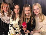 Amanda Holden's daughter Hollie, seven, interviews Angelina Jolie and Elle Fanning