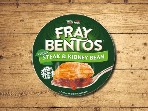 Iconic tinned pie brand Fray Bentos launches new vegan pie